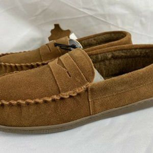 Men's Slip On Suede Mocassin Loafer Shoes Size 8